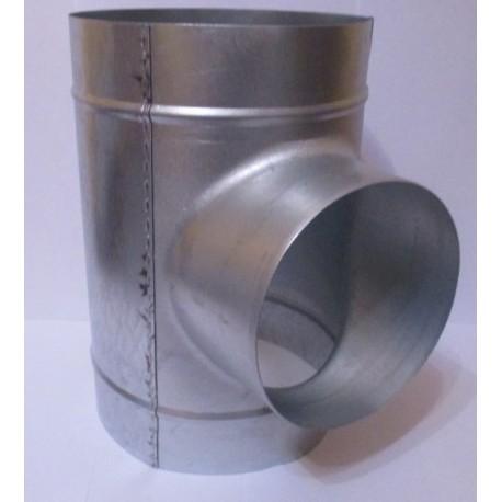 Trójnik tłoczony T TPC 200-125-200, ocynk bez uszczelki
