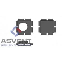 Rozdzielacz rurowy FLAT ośmio-króćcowy z podłączeniem DN 200 mm