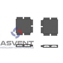 Rozdzielacz rurowy FLAT sześcio-króćcowy bez podłączenia
