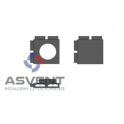 Rozdzielacz rurowy FLAT cztero-króćcowy narożny z podłączeniem DN 200 mm