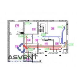 Projekt wentylacji mechanicznej na kanałach smart-flex, pe-flex,