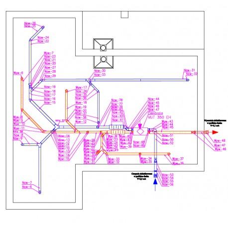 Projekt wentylacji mechanicznej kanały sztywne spiro