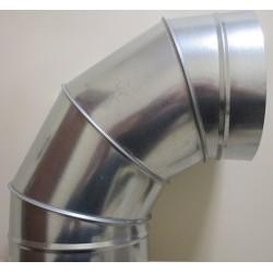 Kolano segmentowe BS 450 90 º ocynk bez uszczelki