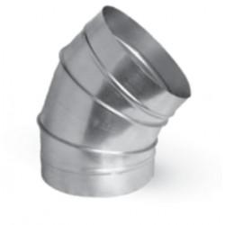 Kolano segmentowe BS 400 45 º ocynk bez uszczelki