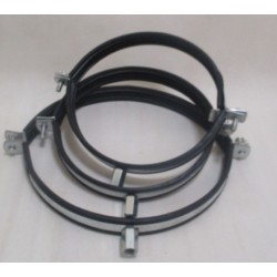 Obejma do rur okrągłych SPIRO 125 mm z amortyzacją