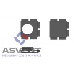 Rozdzielacz rurowy FLAT sześcio-króćcowy z podłączeniem DN 200 mm