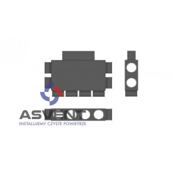 Rozdzielacz rurowy ośmio-króćcowy 8x62mm/50x200mm