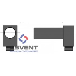 Skrzynka rozprężna 1x90/125 mm