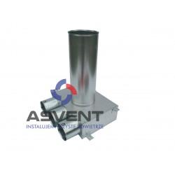 Skrzynka rozprężna 3x75mm pod anemostat 125 dł. przyłącza 320 mm